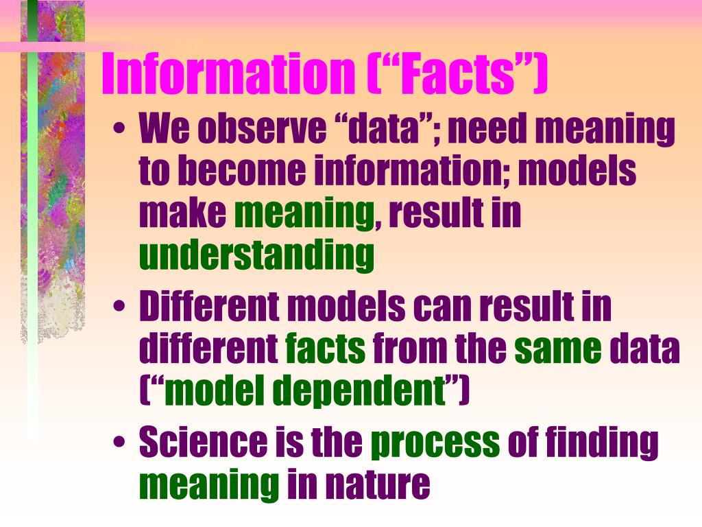 "Information (""Facts"")"
