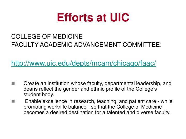 Efforts at UIC