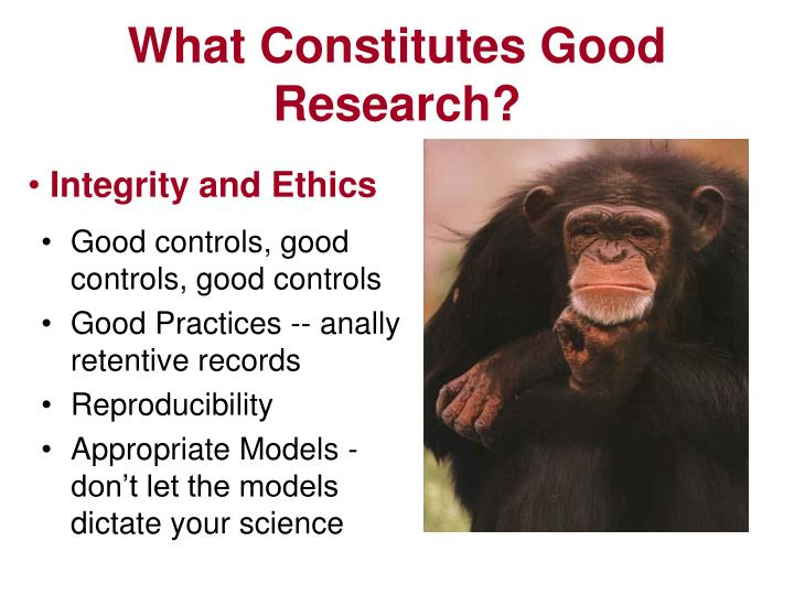 What Constitutes Good Research?