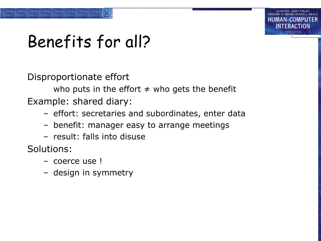 Benefits for all?