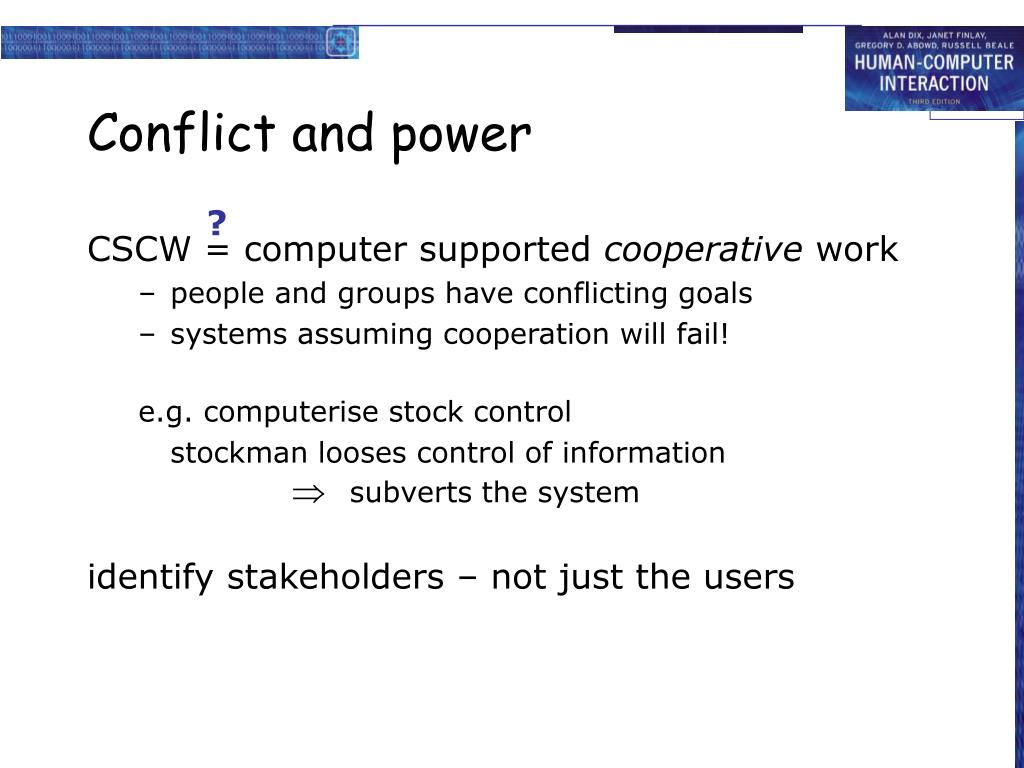 Conflict and power