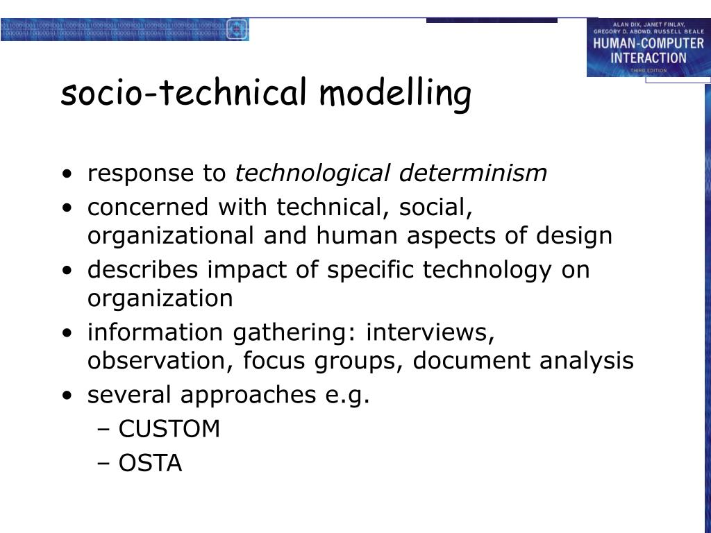 socio-technical modelling