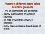 nature is different from other scientific journals