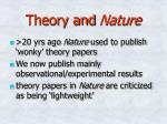 theory and nature