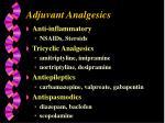 adjuvant analgesics