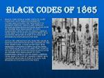 black codes of 18652
