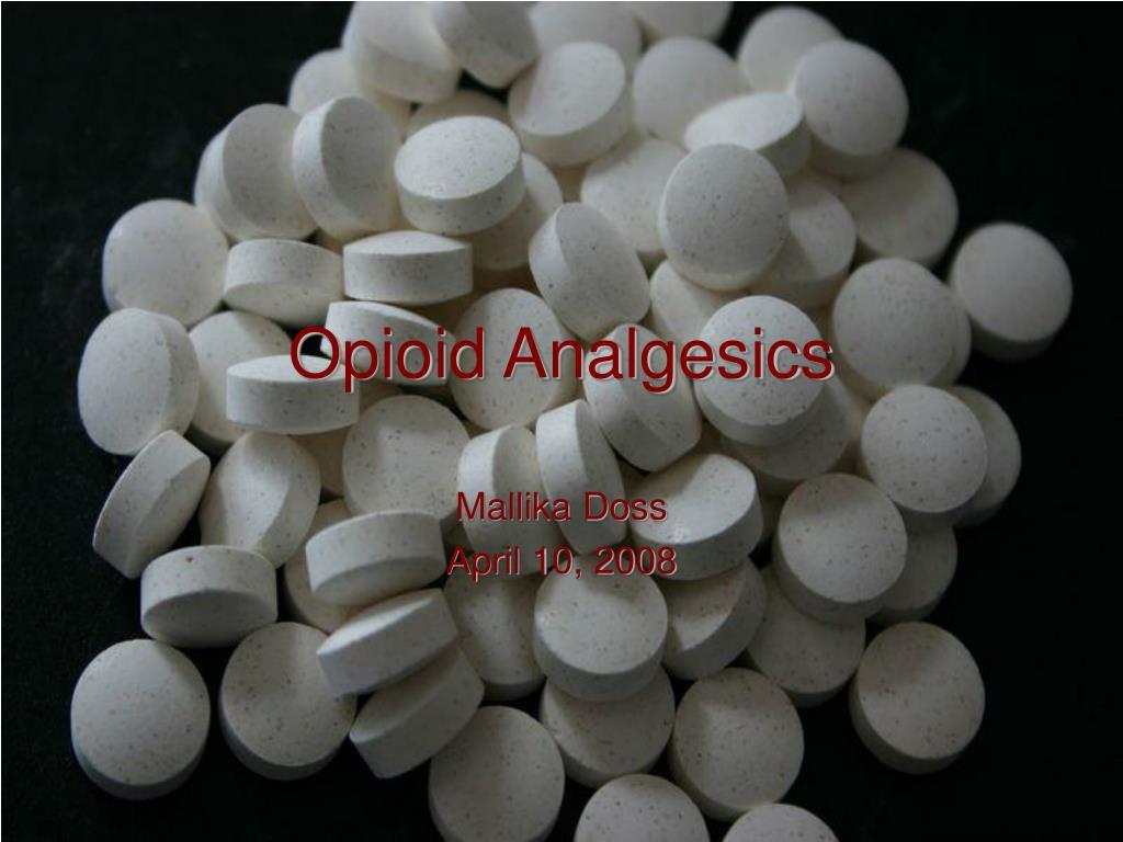 opioid analgesics l.
