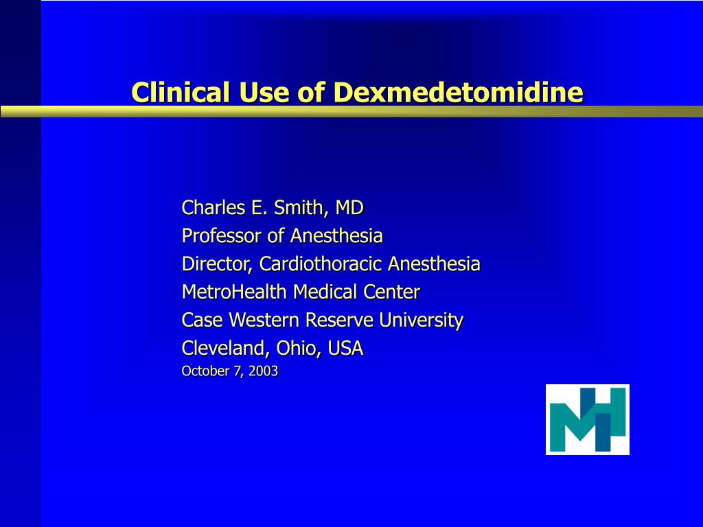 clinical use of dexmedetomidine l.