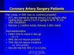 coronary artery surgery patients