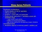 sleep apnea patients