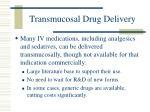 transmucosal drug delivery