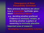emergence of new plausibility schemas