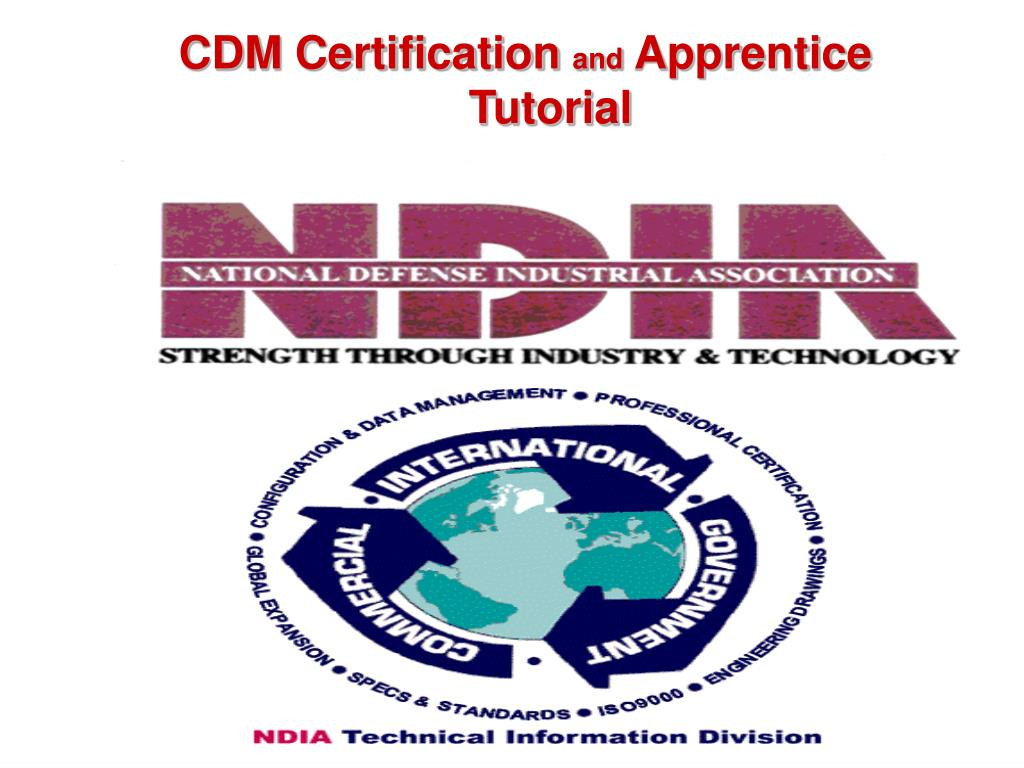 Ppt Cdm Certification And Apprentice Programs The Ndia Process