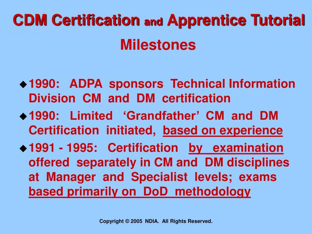 CDM Certification
