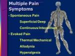 multiple pain symptoms