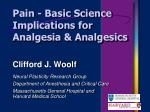 pain basic science implications for analgesia analgesics