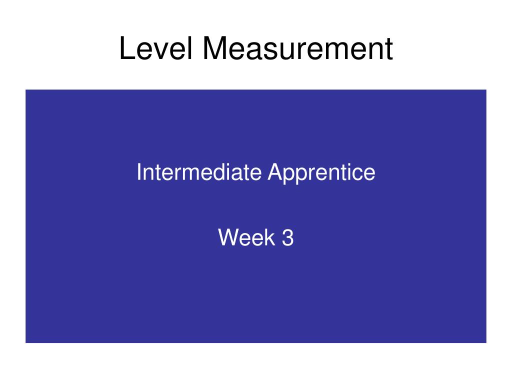 level measurement l.