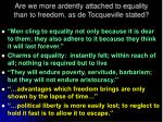 are we more ardently attached to equality than to freedom as de tocqueville stated