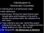 individualism in democratic countries