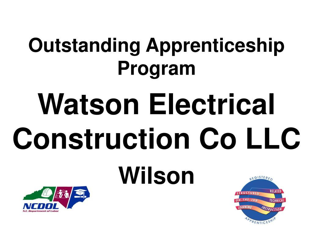 Outstanding Apprenticeship Program