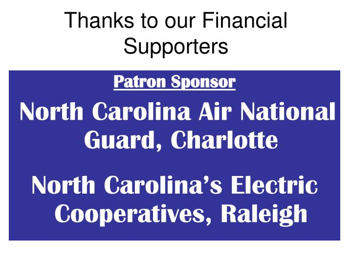 Thanks to our financial supporters3