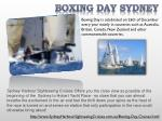 boxing day sydney