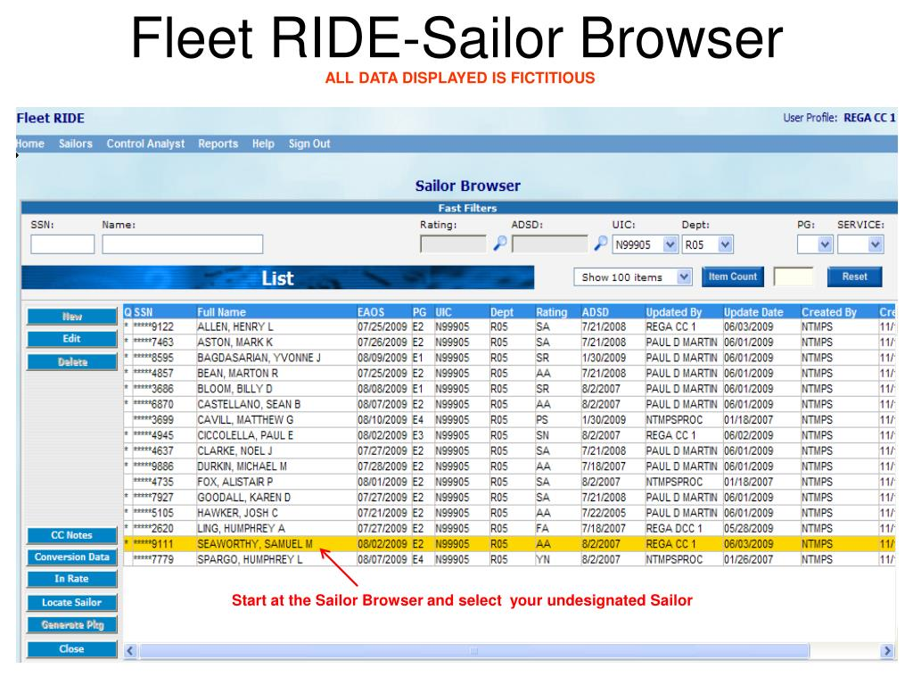 Fleet RIDE-Sailor Browser