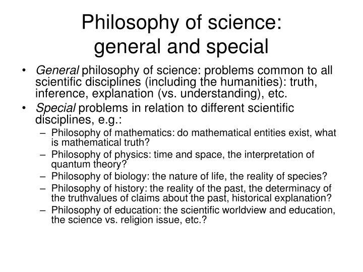 Philosophy of science: