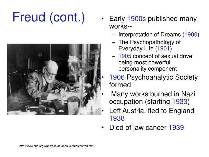 Freud cont