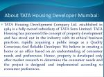 about tata housing developer mumbai