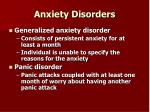 anxiety disorders