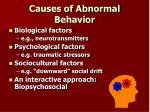 causes of abnormal behavior