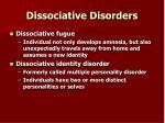 dissociative disorders14