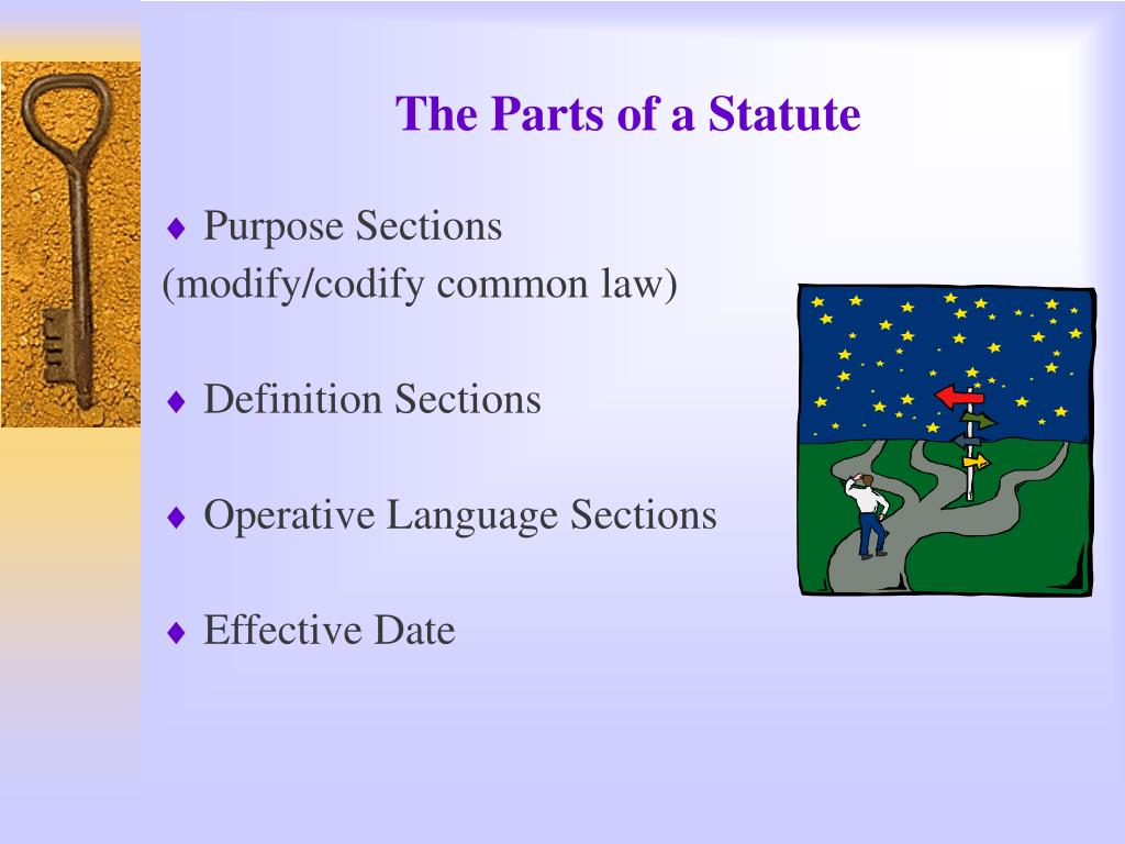 The Parts of a Statute