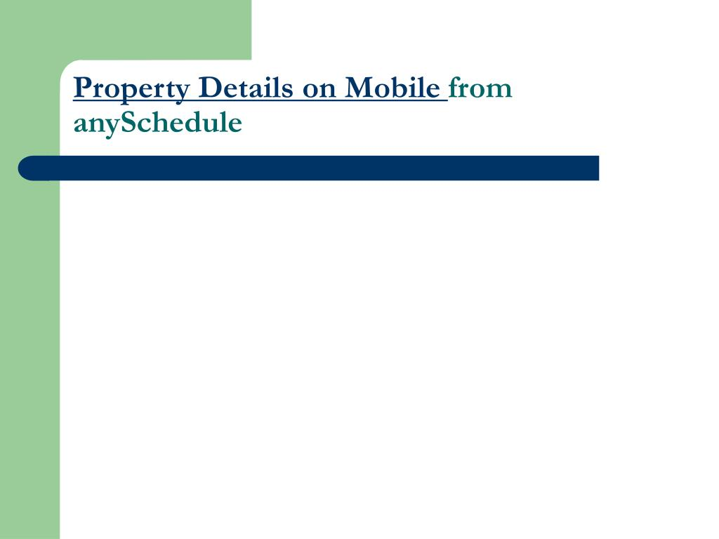 property details on mobile from anyschedule