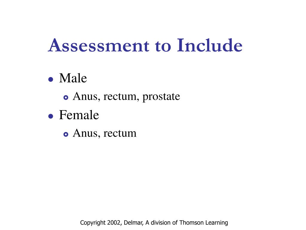 Assessment to Include