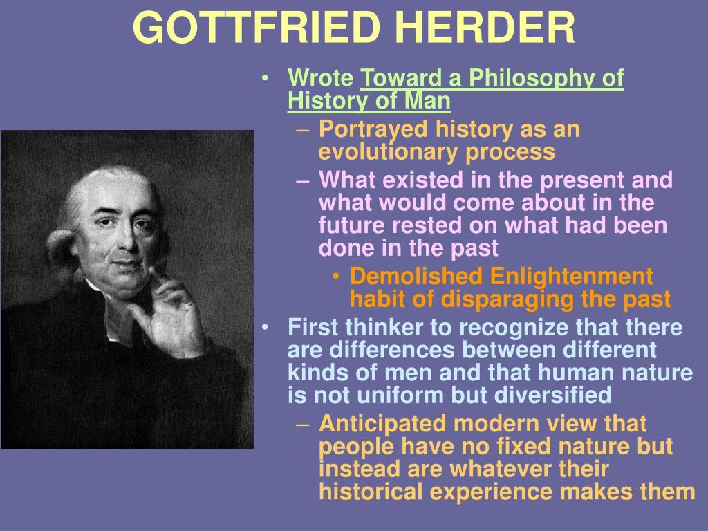 GOTTFRIED HERDER