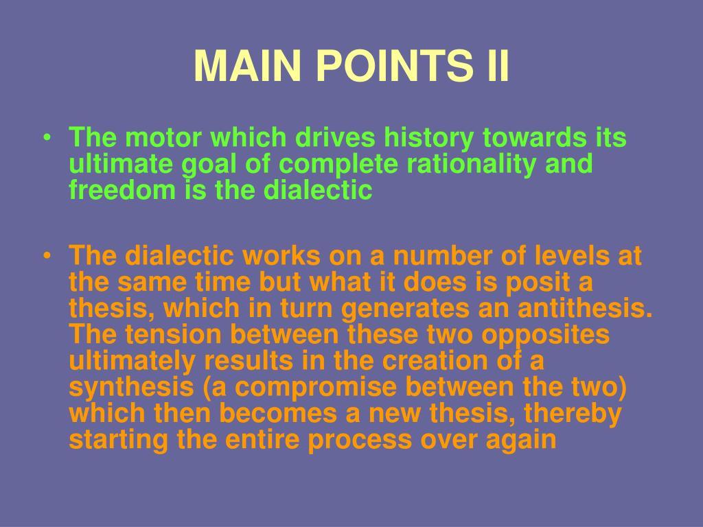 MAIN POINTS II