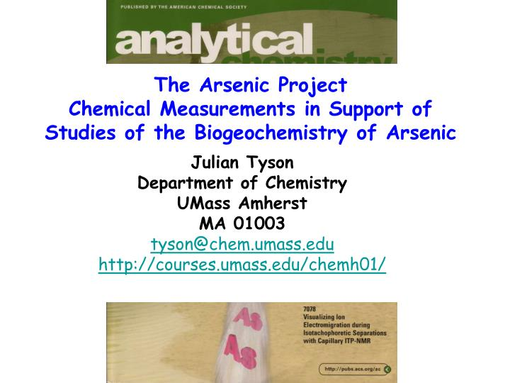 The Arsenic Project