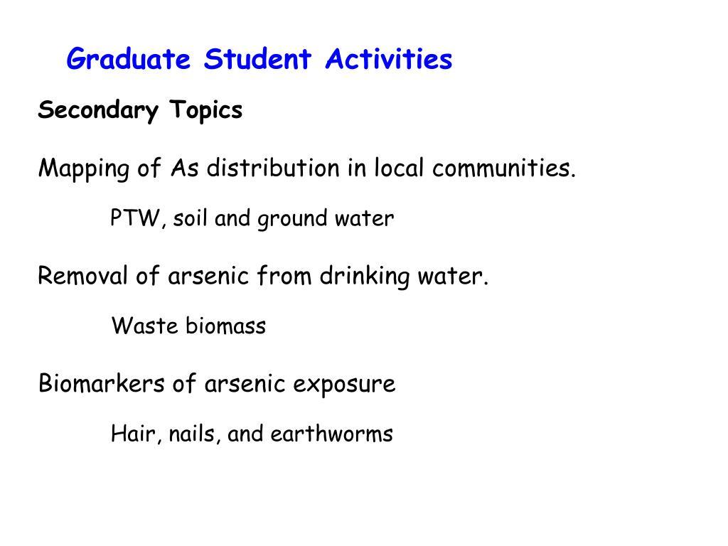 Graduate Student Activities