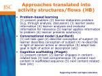 a pproaches translated into activity structures flows hb