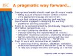 a pragmatic way forward