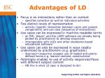 advantages of ld