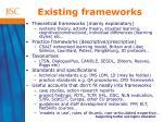 existing frameworks