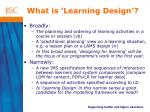 what is learning design