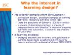 why the interest in learning design4