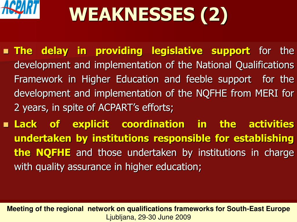 WEAKNESSES (2)