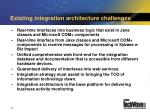 existing integration architecture challenges