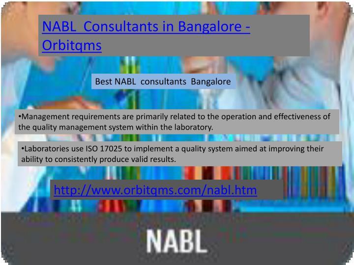 NABL  Consultants in Bangalore - Orbitqms