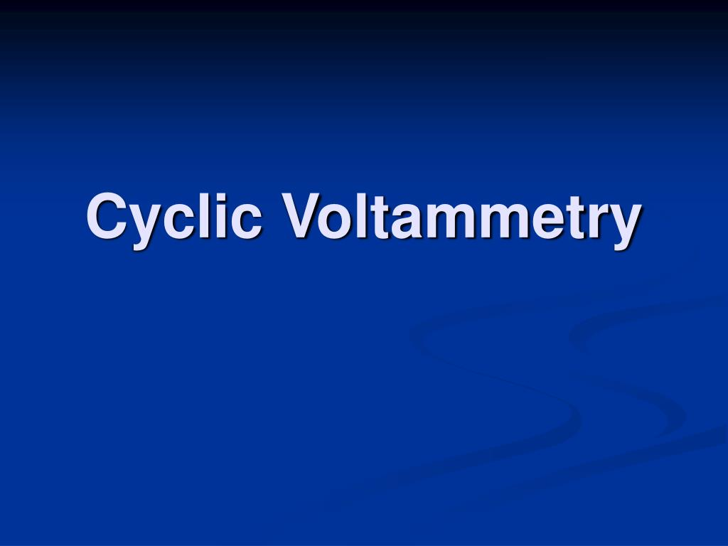cyclic voltammetry l.